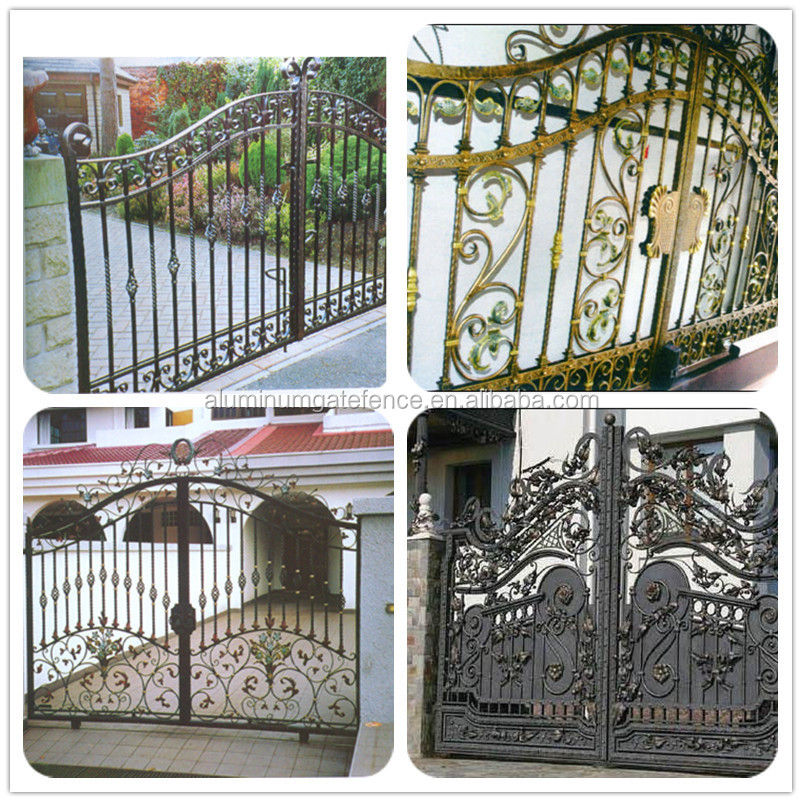 New Design Metal Iron Gate/iron Pipe Fence Gate Color Design