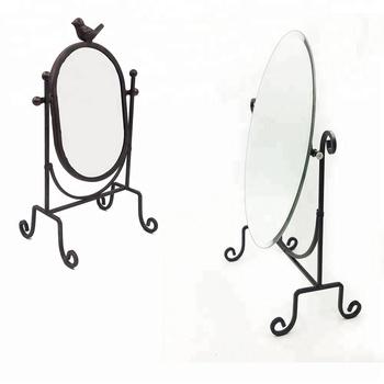 Makeup Mirror Metal Black Color Single Make Up Mirror Vanity Mirror
