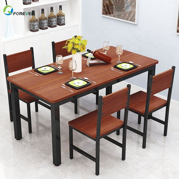 Multifunctional Small Apartment Steel-wood Dining Table and Chair