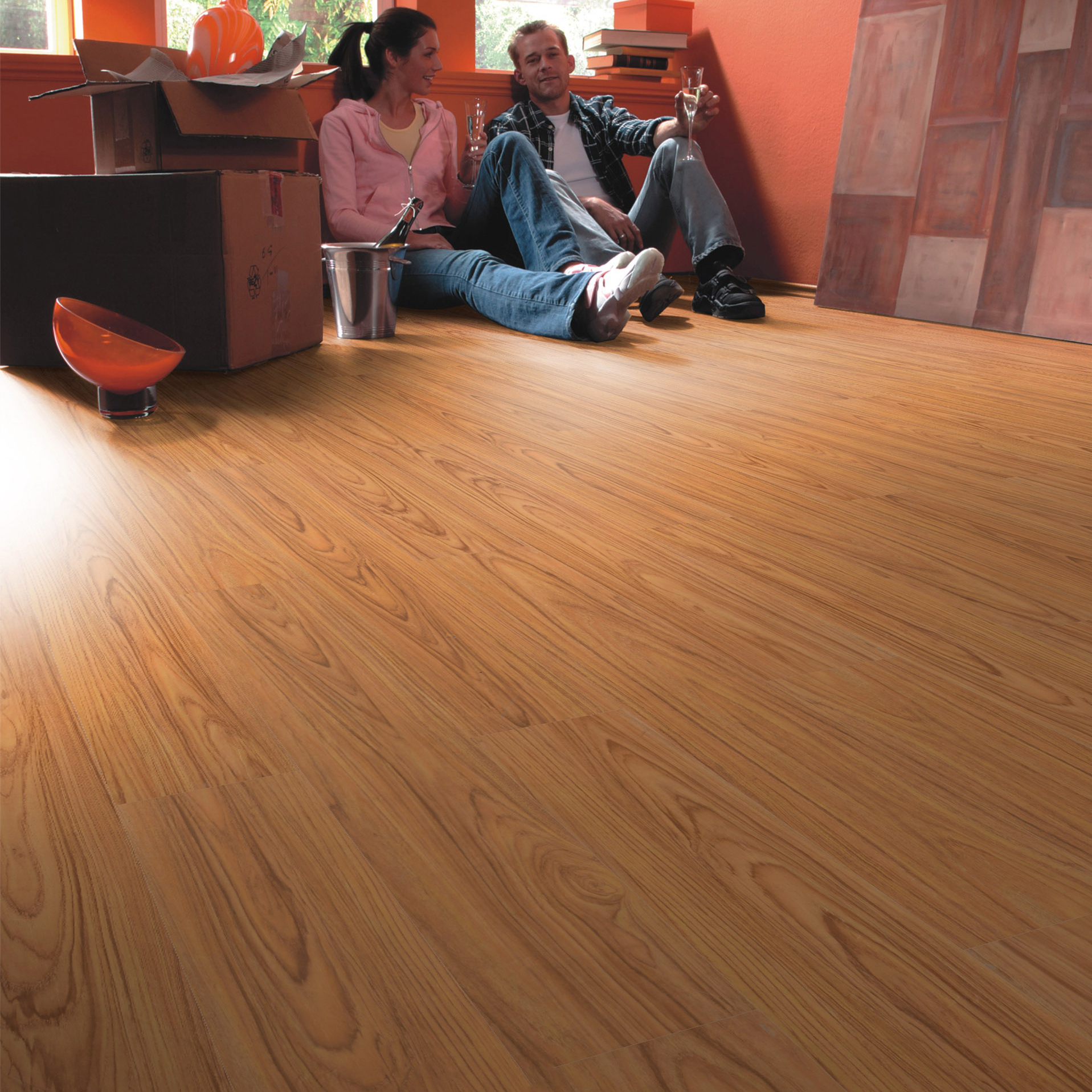 High gloss dark wood color vinyl click <strong>floor</strong> factory