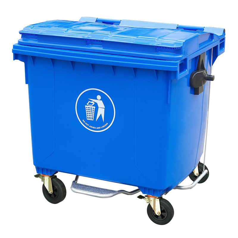 1100 liter 4 wheeled Mobile Garbage Bin/trash cans waste bins foot pedal dust bin