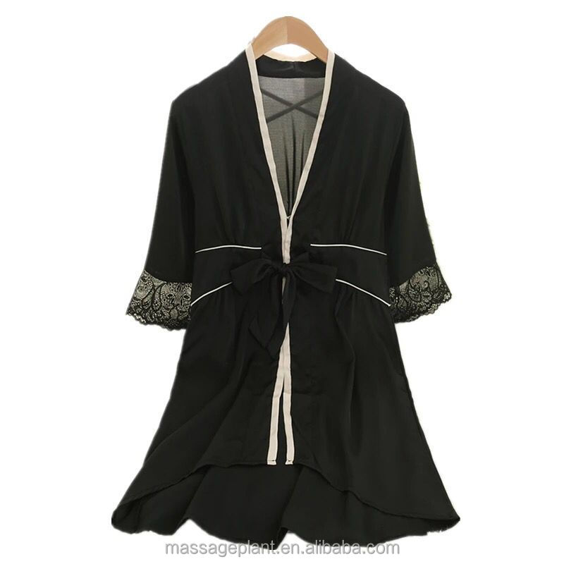 Fashion long sleeve Comfortable women cotton Bathrobe 100% cotton spa robes for Bride
