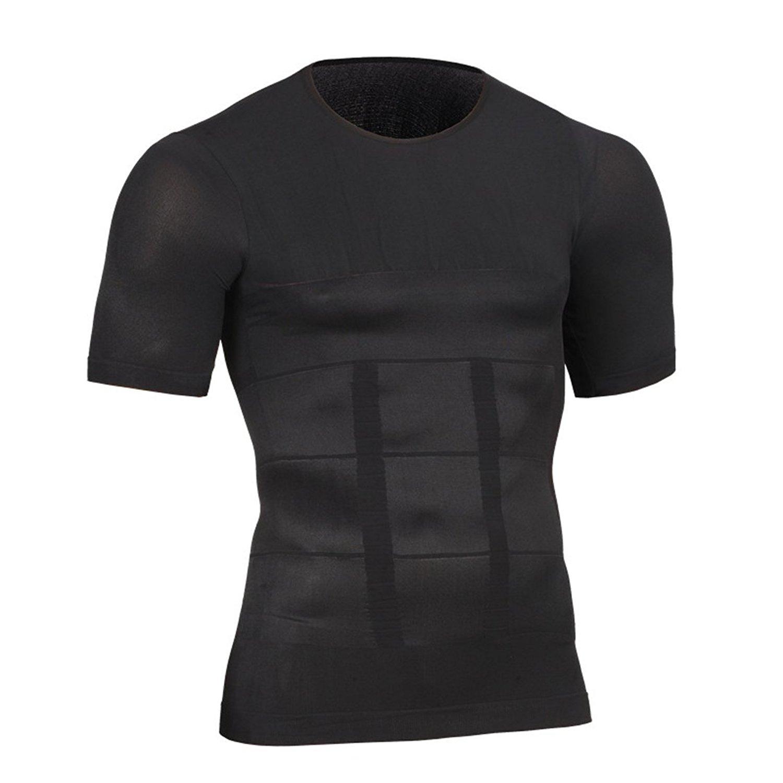 e402627a8efe Get Quotations · Zaaale Mens Slimming Body Shaper Compression Shirt  Undershirt Abs Abdomen Slim Shirt Tummy Waist Shirt Lose