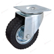 Long way 600 kg 8 inch Double ball berings rubber wheel with steel center caster wheels heavy duty
