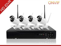 Motion detection 4ch security system 720p p2p ip camera wireless wifi nvr kit free mobile tracking software