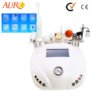 Au-8210 Factory Diamond Microdermabrasion Machine/Multifunctional Facial Spa Equipment/High Frequency Spot Removal Device