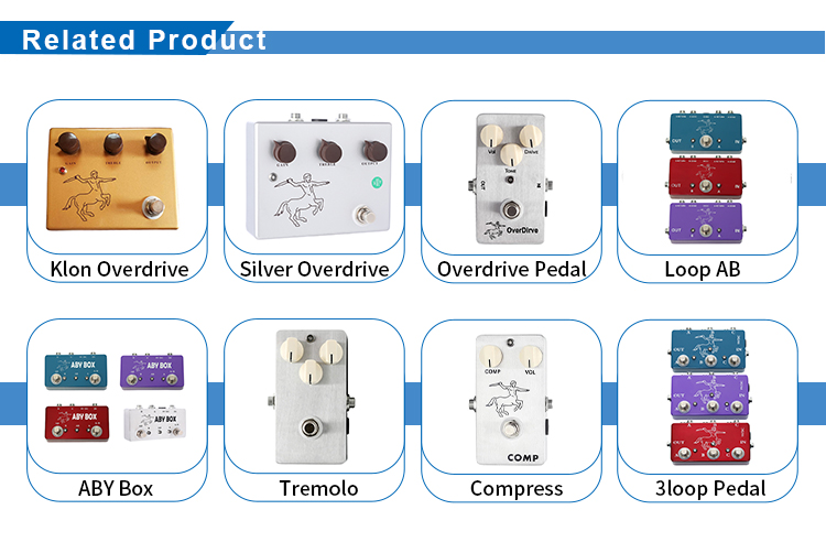 Wholesale Purple Color Aluminum Box Fuzz Distoration Effect Pedal With Ture Bypass For Electric Guitar Accessories