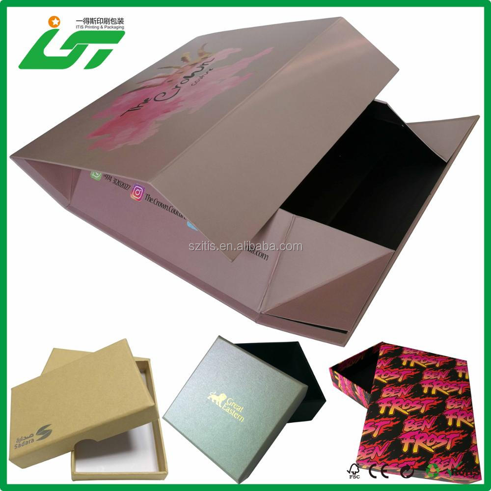 custom luxury retail clothing garment shoes packaging box and paper packaging box and paper packaging printing manufacturer