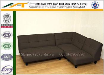 Japanese Style Fabric Sectional Sofa Short Fabric Corner Sofas