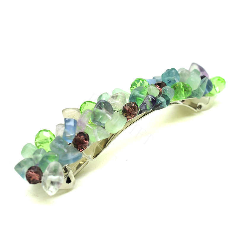 Wholesale Fluorite Crystal Gemstone Hair Accessories Jewelry for Women