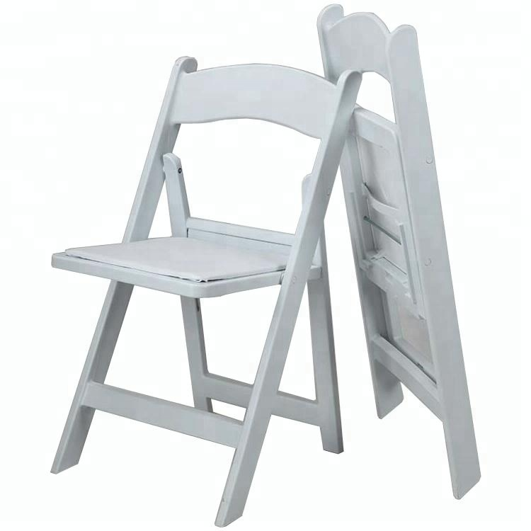 White Plastic Resin Folding Garden Chairs For Wedding