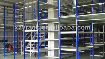 Dexion type raised storage area grating mezzanine floor for Mezzanine cost estimate