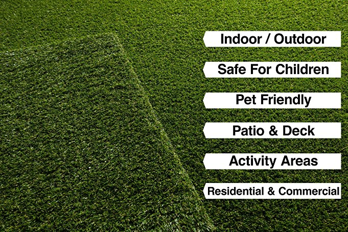 Artificial Grass Turf Fake Lawn Realistic Natural Green Garden