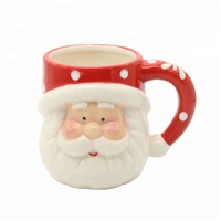 Custom Cheap Bulk Santa Claus Design 3D Ceramic Christmas Mug For Gift Ceramic Mugs