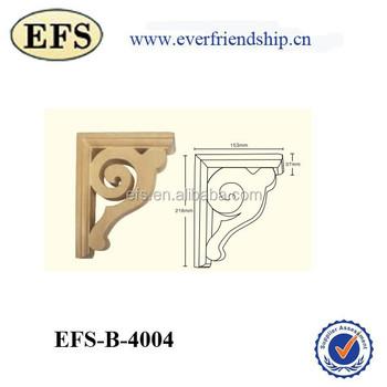 Decorative Solid Wood Scroll Shelf Bracket
