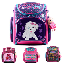 Delune 2016 New European Children School Bag Girls Boys Backpack Cartoon Mochila Infantil Large Capacity Orthopedic Schoolbag
