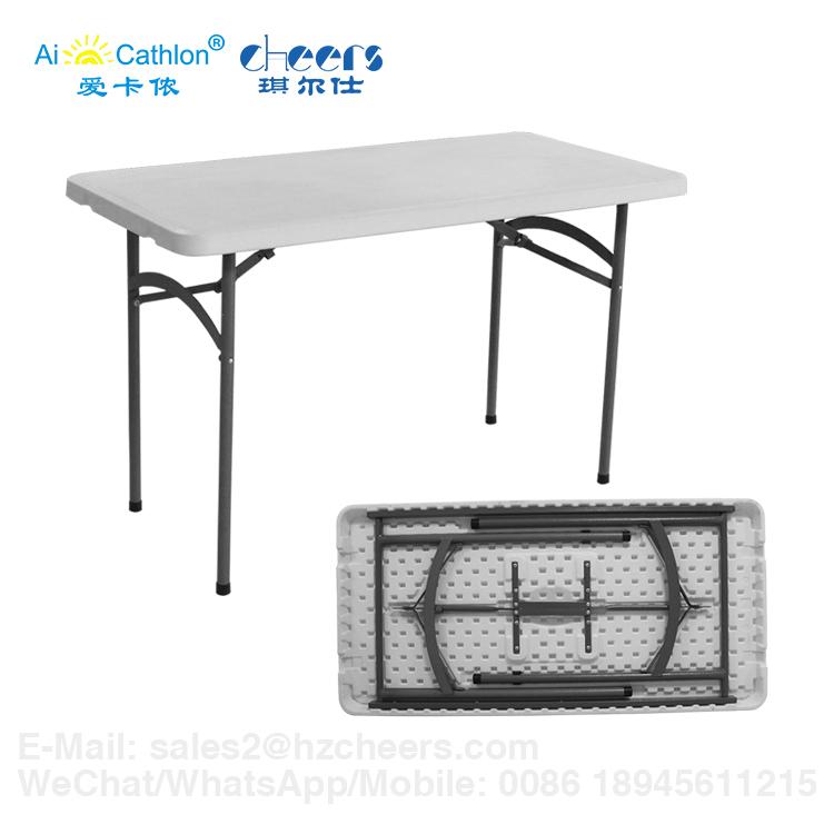 Propósito Plegable Multi Buy 4 Mesas Comedor Barato 4ft Banquete Plástico De 4 Plazas Rectangular Comedor Hdpe Mesa wm8Nn0