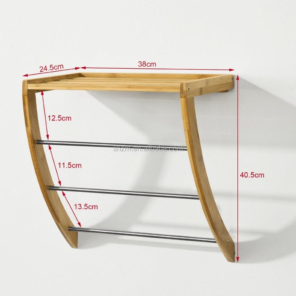 Montado en la pared de ba o toalla de bamb toalla for Accesorios bano bambu