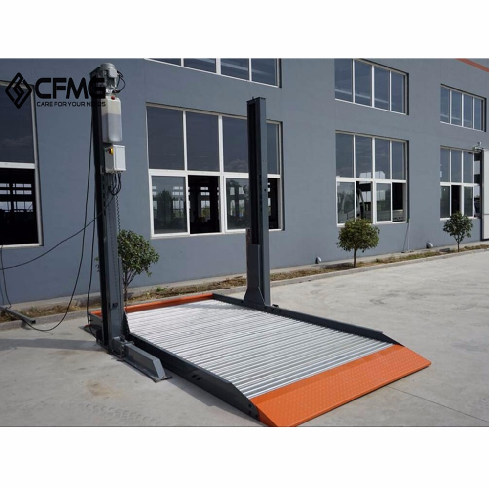 2 post 1 level hydraulic home use double car parking lift system