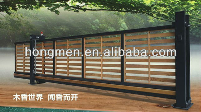 Iron Main Gate Design,15 Years Factory! Sliding Gate Wood