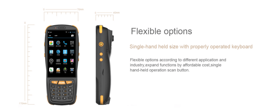 IP65 Android 5.1 OS 4G LTE android handheld barcode scanner PDA with NFC GPS WIFI ZKC3503