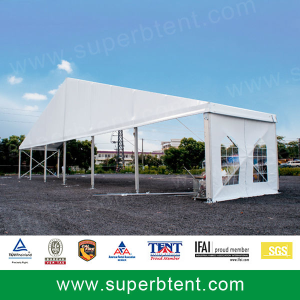 30m Clear Span A Frame Canopy Tent Trial Installation