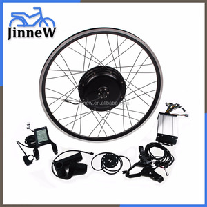 72V 1000W Brushless Gearless Hub Motor/Electric Bike DIY Conversion Kit with hill decent control