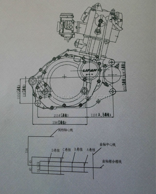Lifan 300cc Motorcycle Engine 4 Stroke Water Cooled Type for Off ...