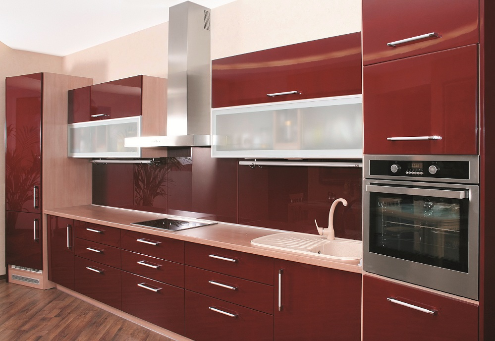 High Gloss Red Kitchen Cabinet, High Gloss Red Kitchen Cabinet Suppliers  And Manufacturers At Alibaba.com