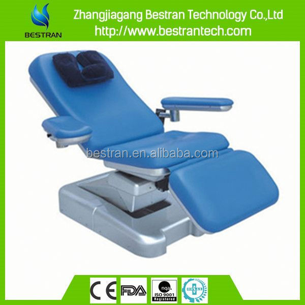 BT-DN002 China factory sale luxury two motor operate adjustable arm blood donor chair counch