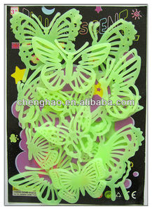 Luminescent butterfly wedding decoration ceiling decor glow dark sticker