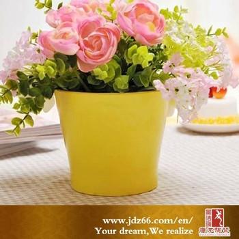 Good quality small coloured ceramic plant pots yellow buy ceramic good quality small coloured ceramic plant pots yellow mightylinksfo