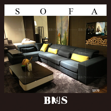 Functional l shape sofa with recliners BMS leisure sofa series