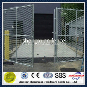 chain link fence double gate. Chain Link Fence Gate / Double Leaves Wire Mesh Security Design