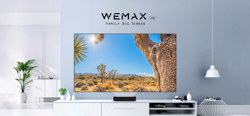 "Xiaomi Mi Android WEMAX ONE 5000 Lumens TV 150 ""นิ้ว 1080 Full HD Laser Projector"