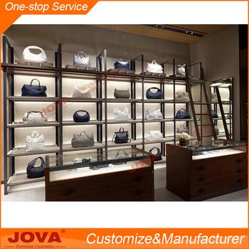 High Quality Purses Handbags Display Cabinet Handbag Shelf Rack