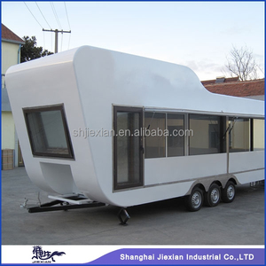 2015 shanghai jiexian Spacious New design!!Shanghai Vending Chinese food truck JX-BT800white food tractor