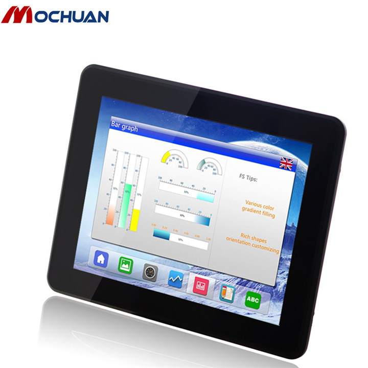 USB ethernet 7 inch high brightness tft lcd hmi touch screen monitor