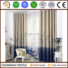 2016 new product city life pattern blackout window curtain