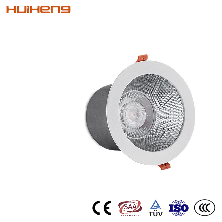 30W 45W High Lumen 7 Inch Retrofit IP20 Recessed LED COB Downlight,Power LED Down Light