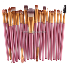 20pcs Pro Makeup Set Powder Foundation Eyeshadow Eyeliner Eye Cosmetic Brushes
