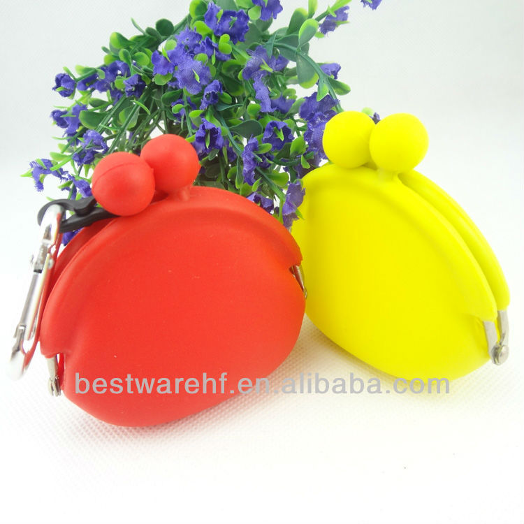 silicone rubber pouch bag coin key pouch