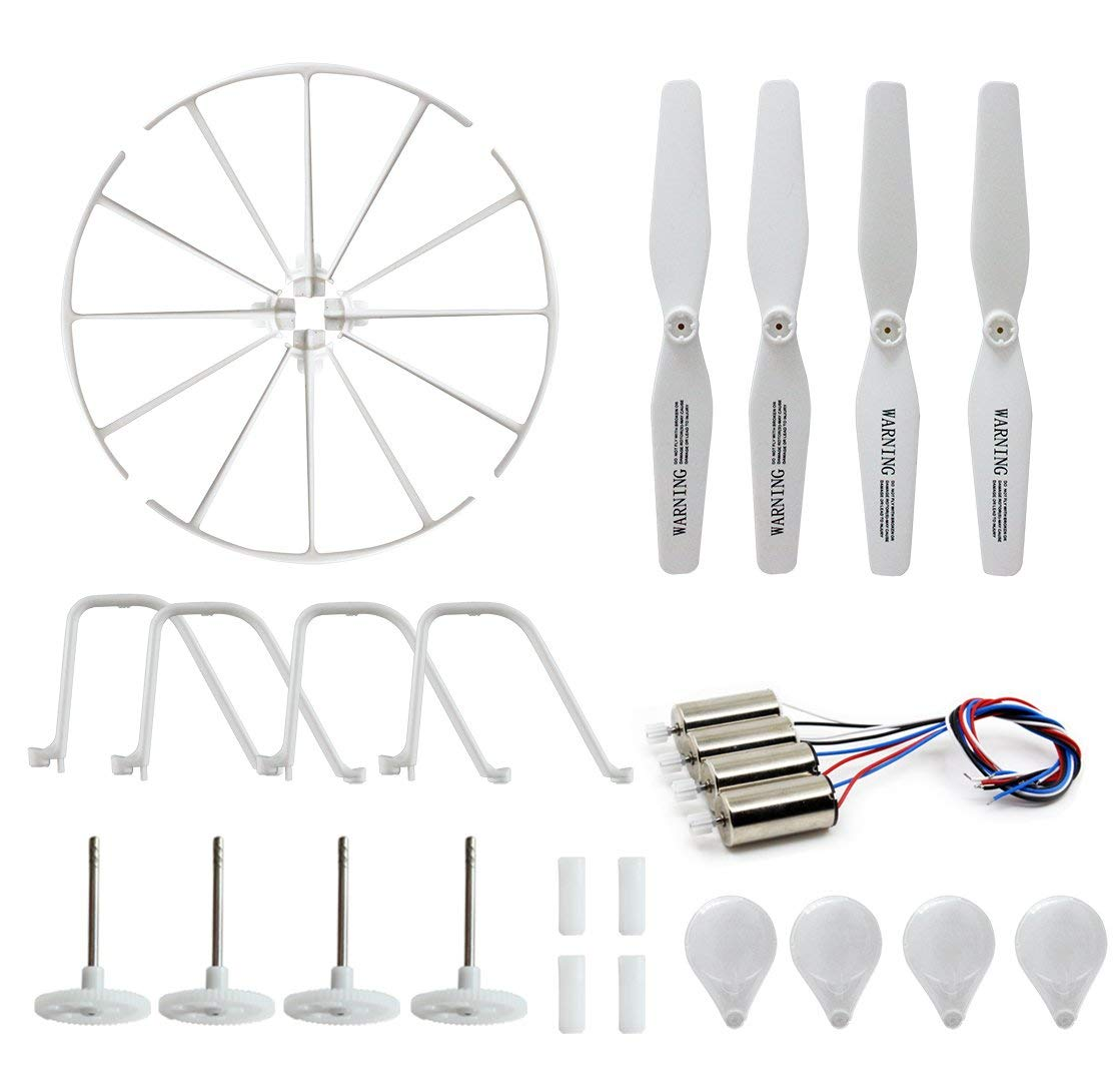 BTG Motor Parts for Syma X5UC X5UW RC Quadcopter- Spare Parts: 4 Motors; 4 Gear Sets; 4 Propellers, 4 Protection frames, 4 Landing Gears