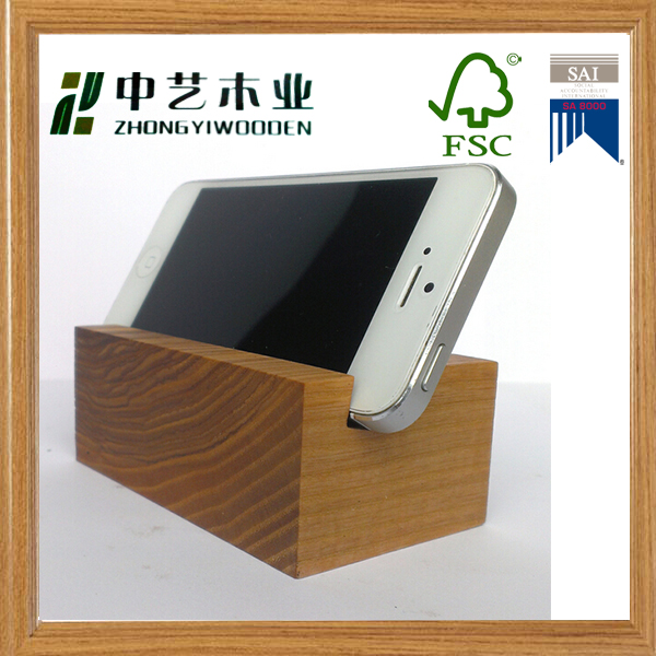 New Arrival Handmade Wooden Cell Phone Standphone Desk Holder