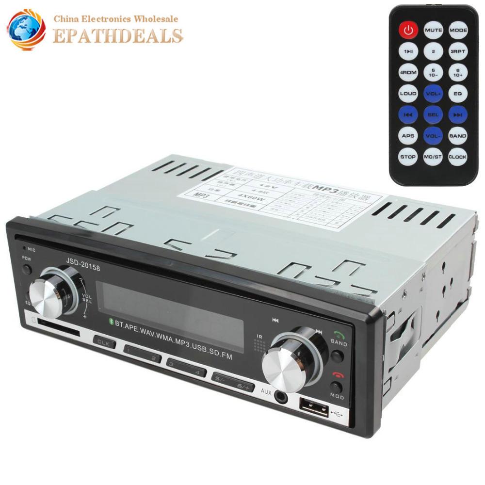 Цифровой руки автомобиль стерео Bluetooth аудио музыка mp3-плеер 1 DIN в-dash fm-радио Aux вход приёмник SD USB mp3-плеер
