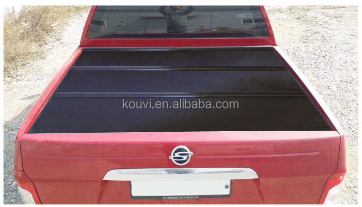 ssangyong korando sports aluminum hard tri fold pickup bed tonneau cover