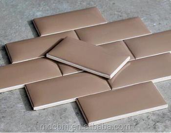 75*150mm Braun Farbe Fliesen Brot Fliesen Dusche Backsplash U Bahn Fliesen