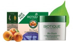 Biotique Bio Peach Clarifying & Refining Peel Off Mask - 50g