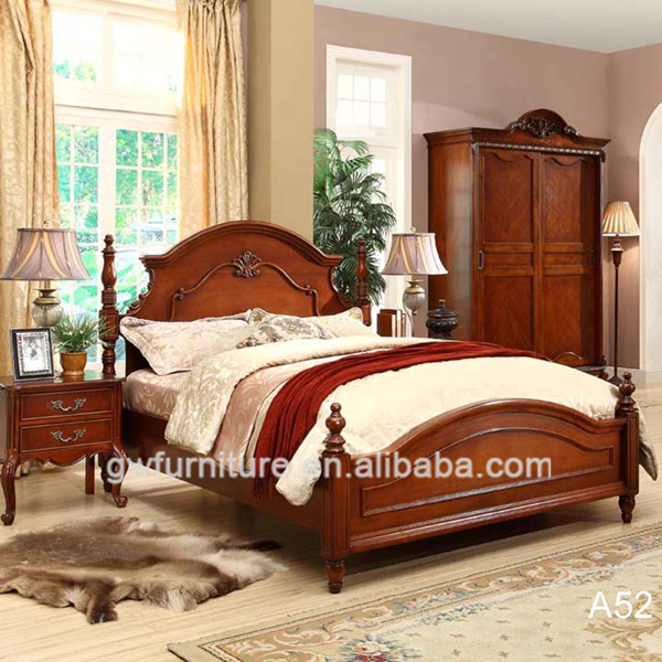 Beautiful Wood Bedroom Furniture Set Top Level Quality