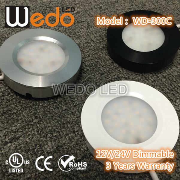 Wireless Remote Control Square LED Puck Light
